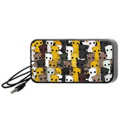 Cute Cats Pattern Portable Speaker (black)