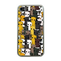 Cute Cats Pattern Apple Iphone 4 Case (clear)