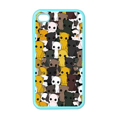 Cute Cats Pattern Apple Iphone 4 Case (color)
