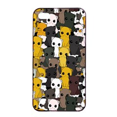 Cute Cats Pattern Apple Iphone 4/4s Seamless Case (black)