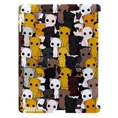 Cute Cats Pattern Apple Ipad 3/4 Hardshell Case (compatible With Smart Cover)