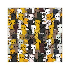 Cute Cats Pattern Acrylic Tangram Puzzle (6  X 6 )