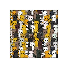 Cute Cats Pattern Acrylic Tangram Puzzle (4  X 4 )