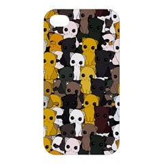 Cute Cats Pattern Apple Iphone 4/4s Premium Hardshell Case