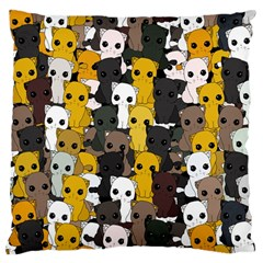 Cute Cats Pattern Large Cushion Case (one Side)