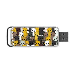 Cute Cats Pattern Portable Usb Flash (two Sides)