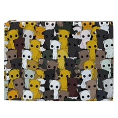 Cute Cats Pattern Cosmetic Bag (xxl)