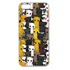 Cute Cats Pattern Apple Seamless Iphone 5 Case (clear)
