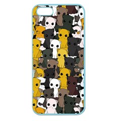 Cute Cats Pattern Apple Seamless Iphone 5 Case (color)