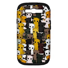 Cute Cats Pattern Samsung Galaxy S Iii Hardshell Case (pc+silicone)