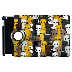 Cute Cats Pattern Apple Ipad 3/4 Flip 360 Case