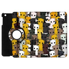 Cute Cats Pattern Apple Ipad Mini Flip 360 Case