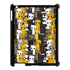 Cute Cats Pattern Apple Ipad 3/4 Case (black)