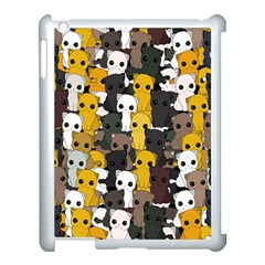 Cute Cats Pattern Apple Ipad 3/4 Case (white)