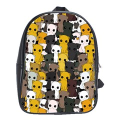 Cute Cats Pattern School Bag (xl)