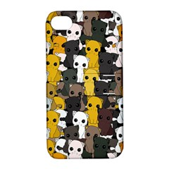 Cute Cats Pattern Apple Iphone 4/4s Hardshell Case With Stand