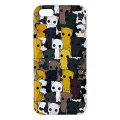 Cute Cats Pattern Apple Iphone 5 Premium Hardshell Case