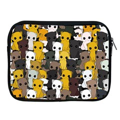 Cute Cats Pattern Apple Ipad 2/3/4 Zipper Cases