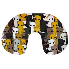 Cute Cats Pattern Travel Neck Pillows