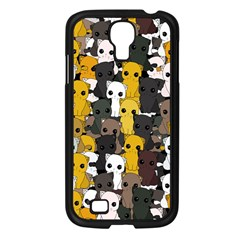 Cute Cats Pattern Samsung Galaxy S4 I9500/ I9505 Case (black)