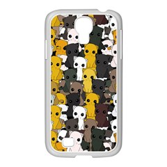 Cute Cats Pattern Samsung Galaxy S4 I9500/ I9505 Case (white)