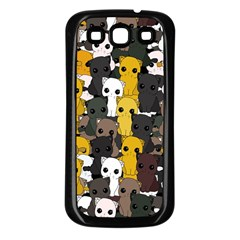 Cute Cats Pattern Samsung Galaxy S3 Back Case (black)