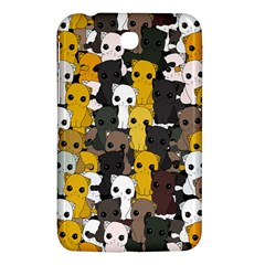 Cute Cats Pattern Samsung Galaxy Tab 3 (7 ) P3200 Hardshell Case