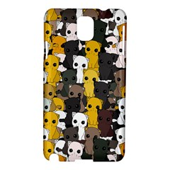 Cute Cats Pattern Samsung Galaxy Note 3 N9005 Hardshell Case