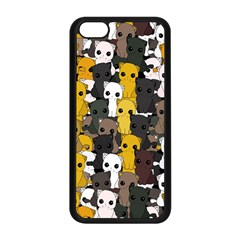 Cute Cats Pattern Apple Iphone 5c Seamless Case (black)