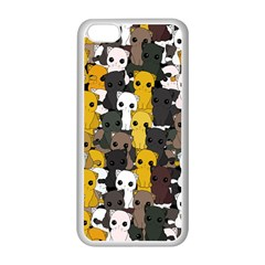 Cute Cats Pattern Apple Iphone 5c Seamless Case (white)