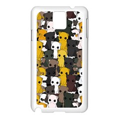 Cute Cats Pattern Samsung Galaxy Note 3 N9005 Case (white)