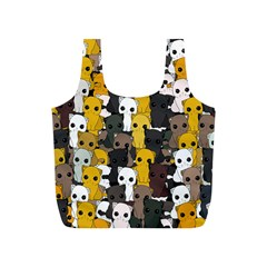 Cute Cats Pattern Full Print Recycle Bags (s)