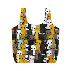 Cute Cats Pattern Full Print Recycle Bags (m)
