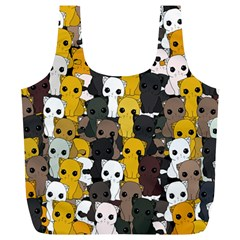 Cute Cats Pattern Full Print Recycle Bags (l)