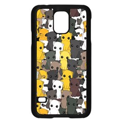 Cute Cats Pattern Samsung Galaxy S5 Case (black)