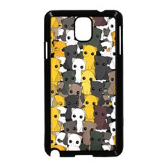 Cute Cats Pattern Samsung Galaxy Note 3 Neo Hardshell Case (black)