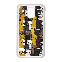 Cute Cats Pattern Samsung Galaxy S5 Case (white)