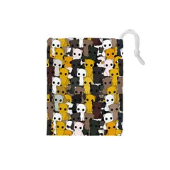 Cute Cats Pattern Drawstring Pouches (small)