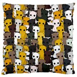 Cute cats pattern Large Flano Cushion Case (Two Sides) Front