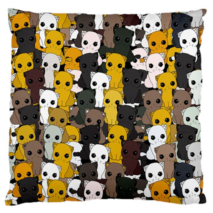 Cute cats pattern Large Flano Cushion Case (Two Sides)