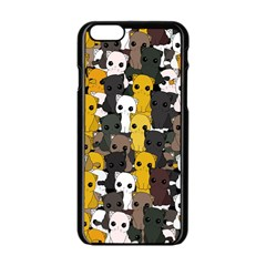 Cute Cats Pattern Apple Iphone 6/6s Black Enamel Case