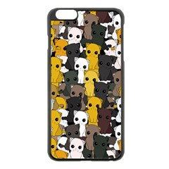 Cute Cats Pattern Apple Iphone 6 Plus/6s Plus Black Enamel Case