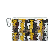 Cute Cats Pattern Canvas Cosmetic Bag (s)