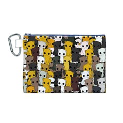 Cute Cats Pattern Canvas Cosmetic Bag (m)