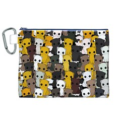 Cute Cats Pattern Canvas Cosmetic Bag (xl)