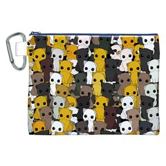 Cute Cats Pattern Canvas Cosmetic Bag (xxl)