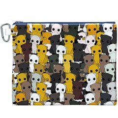 Cute Cats Pattern Canvas Cosmetic Bag (xxxl)
