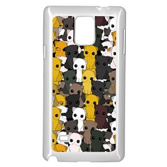 Cute Cats Pattern Samsung Galaxy Note 4 Case (white)