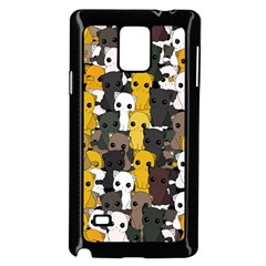 Cute Cats Pattern Samsung Galaxy Note 4 Case (black)