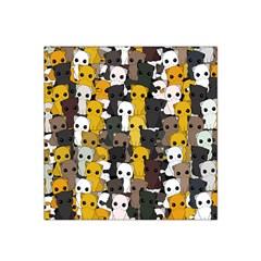 Cute Cats Pattern Satin Bandana Scarf
